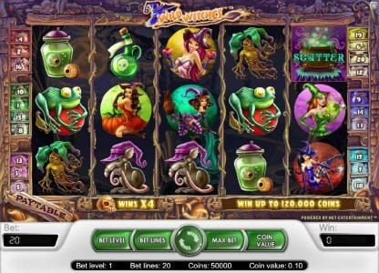 Spin Prive featuring the Video Slots Wild Witches with a maximum payout of $40,000