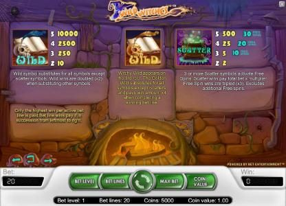 Casino Superlines featuring the Video Slots Wild Witches with a maximum payout of $40,000