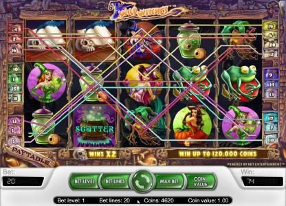 TheBesCasino featuring the Video Slots Wild Witches with a maximum payout of $40,000