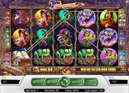 Betchan featuring the Video Slots Wild Witches with a maximum payout of $40,000