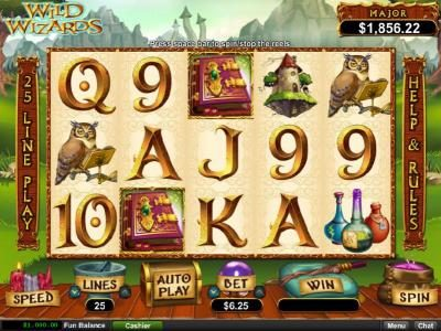 Play slots at 99 Slot Machines: 99 Slot Machines featuring the Video Slots Wild Wizards with a maximum payout of $12,500