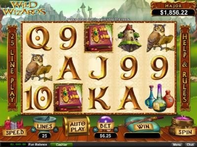 Play slots at Casino Bellevue: Casino Bellevue featuring the Video Slots Wild Wizards with a maximum payout of $12,500