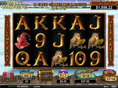 Bovada featuring the Video Slots Wild Wizards with a maximum payout of $12,500