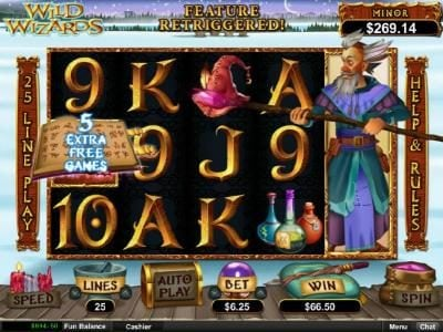 iNET Bet featuring the Video Slots Wild Wizards with a maximum payout of $12,500