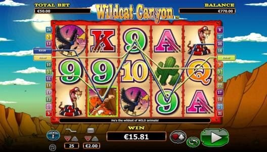 TS featuring the Video Slots Wildcat Canyon with a maximum payout of $10,000