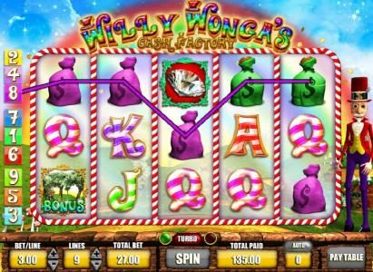 Winner Million featuring the Video Slots Willy Wonga's Cash Factory with a maximum payout of $625,000