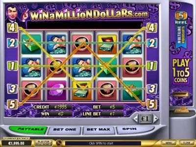 Play slots at Vernons: Vernons featuring the Video Slots Win A Million Dollars with a maximum payout of $1,000,000