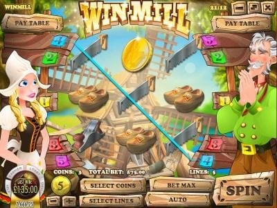 Play slots at Winbig21: Winbig21 featuring the Video Slots Win Mill with a maximum payout of $75,000
