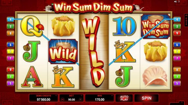 Winner Million featuring the Video Slots Win Sum Dim Sum with a maximum payout of $300,000