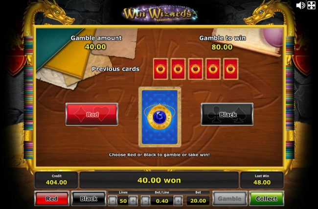 Quasar featuring the Video Slots Win Wizards with a maximum payout of $1,250,000