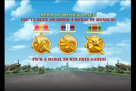 pick a medal to win free games
