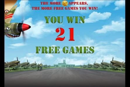 21 free games won - each medal is worth 3 free games
