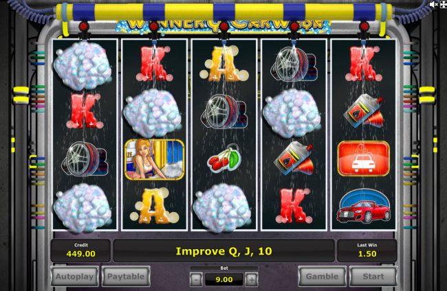 Genting featuring the Video Slots Winner's Car Wash with a maximum payout of $750,000