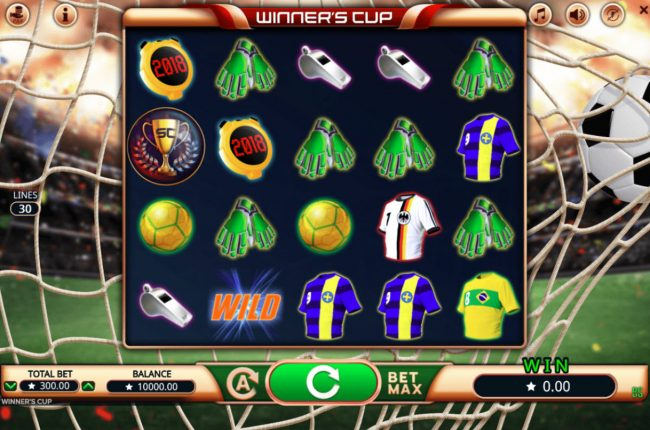 All Wins Casino featuring the Video Slots Winner's Cup with a maximum payout of $3,000