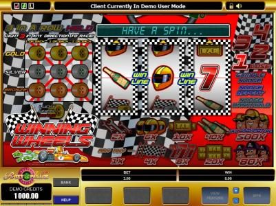 Rizk featuring the Video Slots Winning Wheels with a maximum payout of $5,000