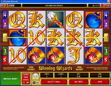 Yukon Gold featuring the Video Slots Winning Wizards with a maximum payout of $50,000
