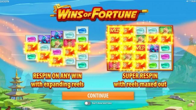 Play slots at Gala: Gala featuring the Video Slots Wins of Fortune with a maximum payout of $250