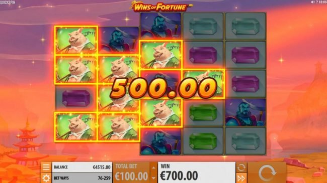 Omnia featuring the Video Slots Wins of Fortune with a maximum payout of $250