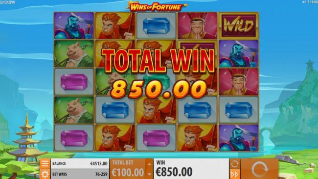VIP Casino featuring the Video Slots Wins of Fortune with a maximum payout of $250