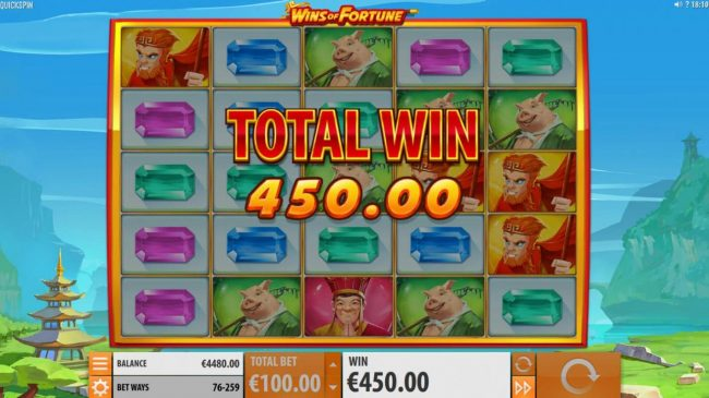 Play slots at Casiplay: Casiplay featuring the Video Slots Wins of Fortune with a maximum payout of $250