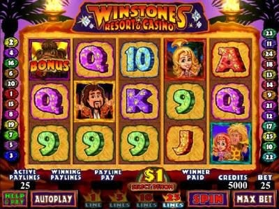 My Win 24 featuring the Video Slots Winstones Resort & Casino with a maximum payout of $2,000