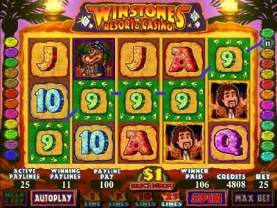 Wintingo featuring the Video Slots Winstones Resort & Casino with a maximum payout of $2,000