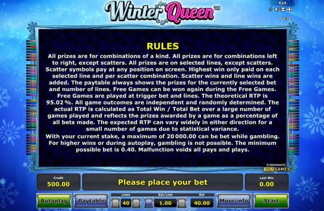 Winter Queen :: General Game Rules