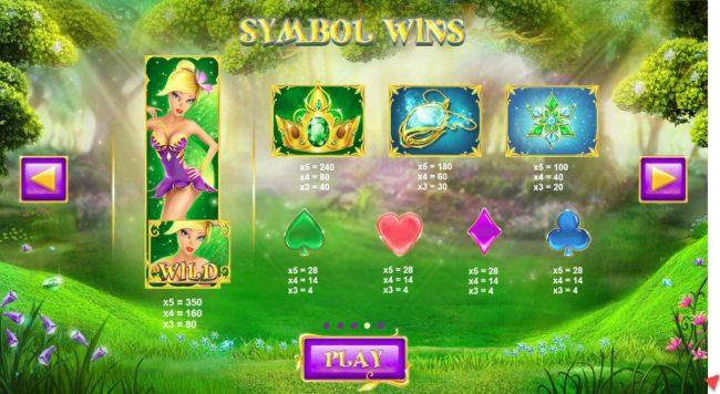 Winter Wonders :: Slot game symbols paytable.