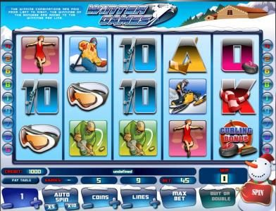 Casdep featuring the Video Slots Winter Games with a maximum payout of $45,000