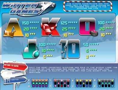 Tangiers featuring the Video Slots Winter Games with a maximum payout of $45,000