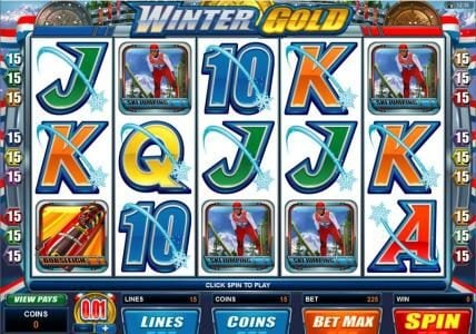 Crystal featuring the Video Slots Winter Gold with a maximum payout of $20,000