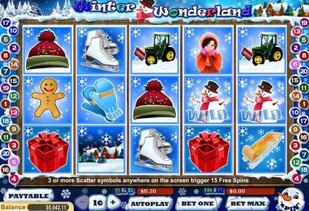 Miami Club featuring the Video Slots Winter Wonderland with a maximum payout of $40,000