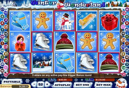 Red Stag featuring the Video Slots Winter Wonderland with a maximum payout of $40,000