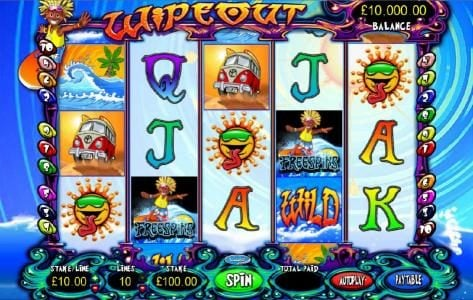 CasinoCasino featuring the Video Slots Wipeout with a maximum payout of $7,500
