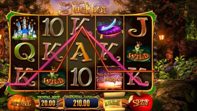 Wish Upon a Jackpot :: A five of a kind helps push the game payout to 210.00