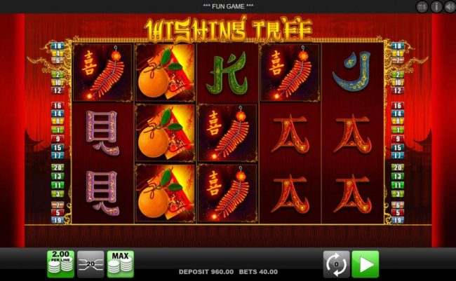 EU Casino featuring the Video Slots Wishing Tree with a maximum payout of $4,000