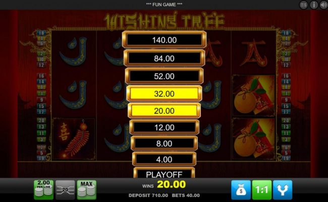 Leo Vegas featuring the Video Slots Wishing Tree with a maximum payout of $4,000