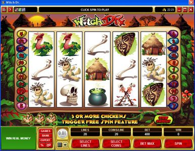 Play slots at Maple: Maple featuring the Video Slots Witch Dr with a maximum payout of $50,000