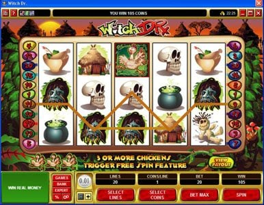 Noxwin featuring the Video Slots Witch Dr with a maximum payout of $50,000