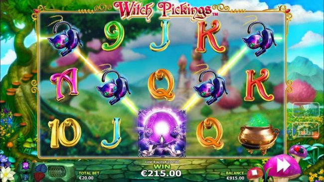 Play Hippo featuring the Video Slots Witch Pickings with a maximum payout of $50,000