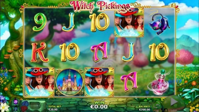Casino Superlines featuring the Video Slots Witch Pickings with a maximum payout of $50,000