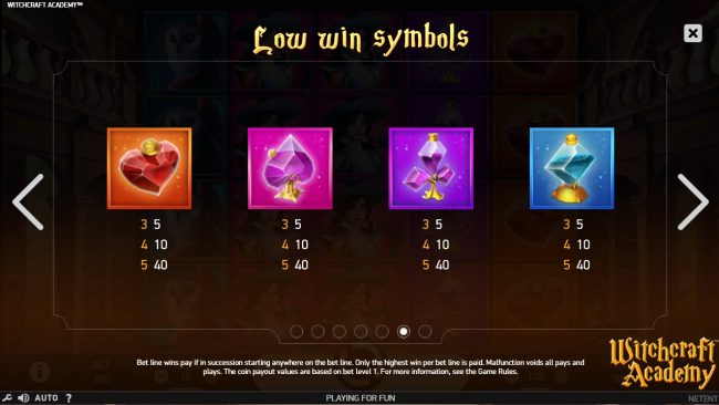 Play slots at Play Club Casino: Play Club Casino featuring the Video Slots Witchcraft Academy with a maximum payout of $160,000
