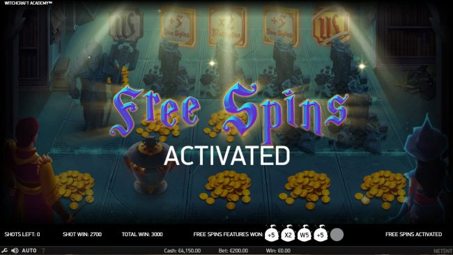 Betting Ways featuring the Video Slots Witchcraft Academy with a maximum payout of $160,000