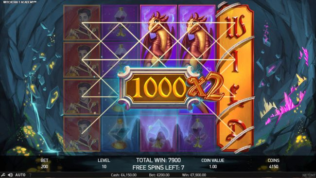 Triple Aces featuring the Video Slots Witchcraft Academy with a maximum payout of $160,000