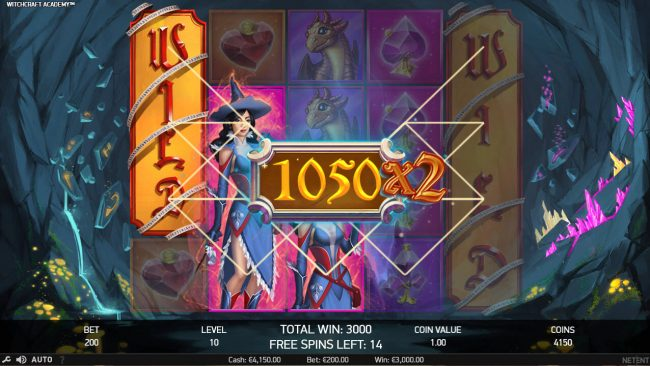 Free Spins featuring the Video Slots Witchcraft Academy with a maximum payout of $160,000