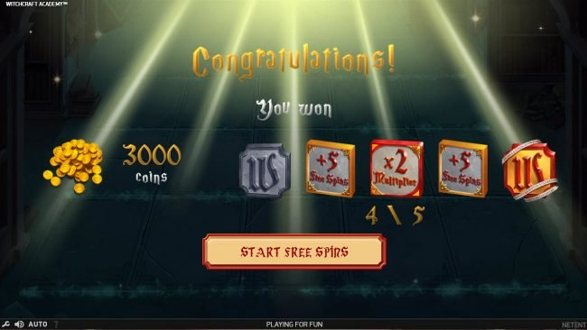 Spinrider featuring the Video Slots Witchcraft Academy with a maximum payout of $160,000