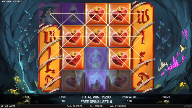 King Billy featuring the Video Slots Witchcraft Academy with a maximum payout of $160,000