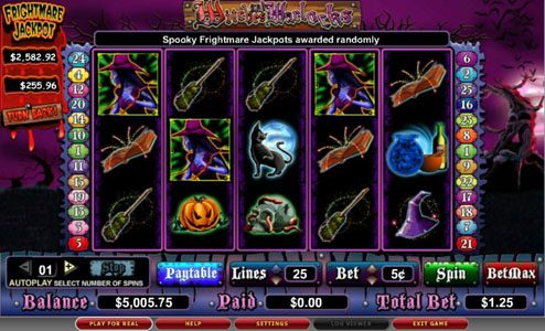 Play slots at Spin Station: Spin Station featuring the video-Slots Witches and Warlocks with a maximum payout of 5,000x