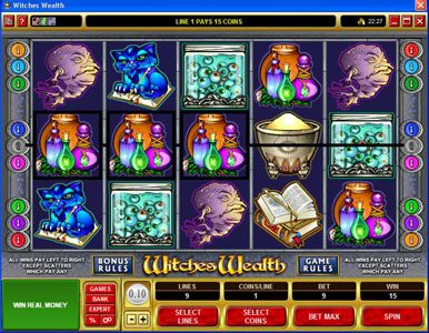 Wixstars featuring the Video Slots Witches Wealth with a maximum payout of $60,000