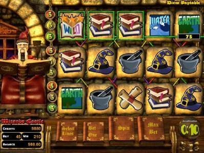 Play slots at Slots Jackpot: Slots Jackpot featuring the Video Slots Wizard's Castle with a maximum payout of $10,000